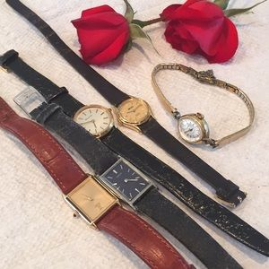 5 Vintage Seiko & Buliva Watches. AS IS CONDITION